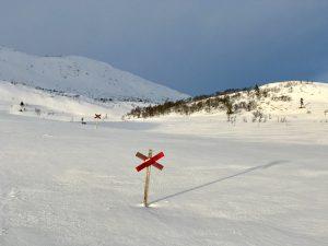 Kryssmarkerad led vinter Foto: Anne Adsten