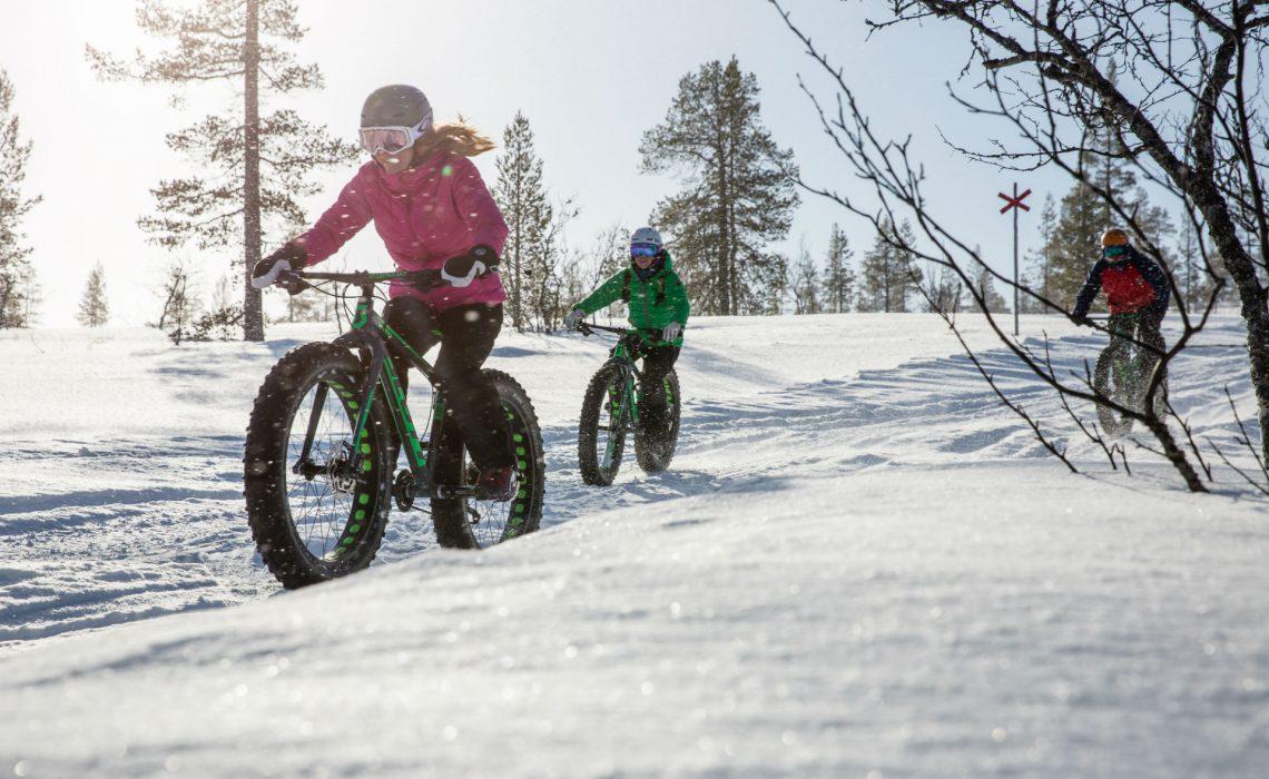 Lofsdalen fatbike vinter snöar Foto Anette Andersson