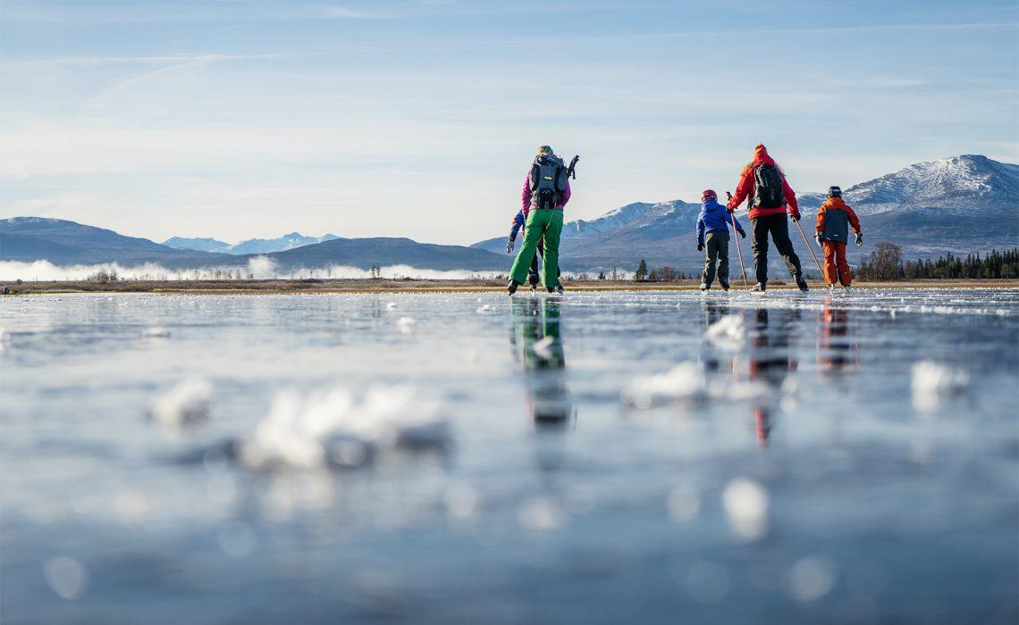 Skridsko vinter Ånnsjön Jämtland Anette Andersson