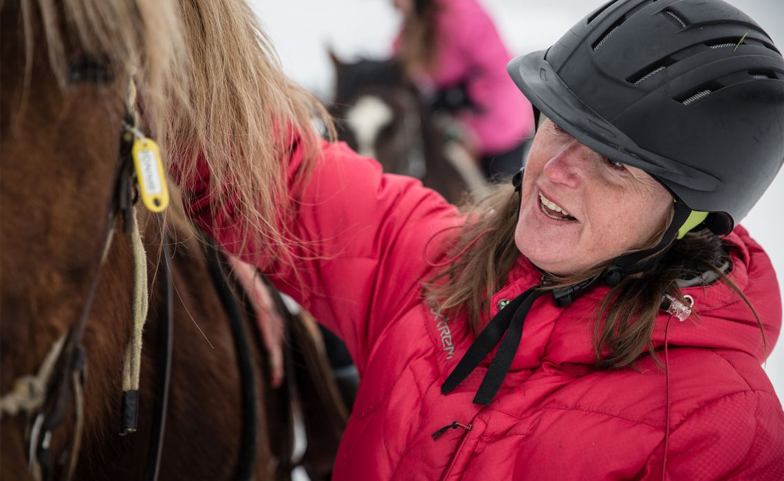 Rida Trumvallen vinter Anette Andersson