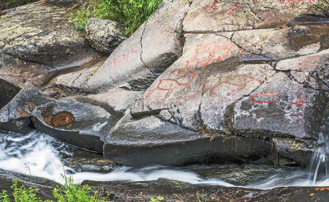 Rock Carvings from the stone age at Glösa. Photo: Erika Willners