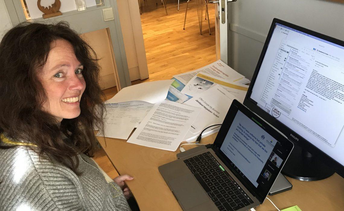 Anne Adsten är en av värdarna för utbildningen Turism Post Corona. Foto: Mats Forslund.