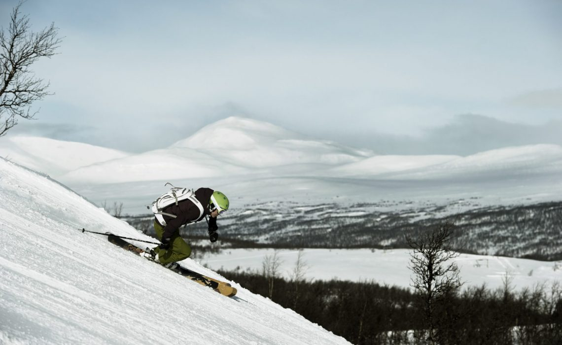 Offpist i Funäsfjällen. Foto: Martin Söderqvist.