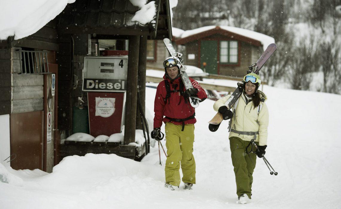 På väg till skidbacken i Funäsfjällen. Foto: Martin Söderqvist