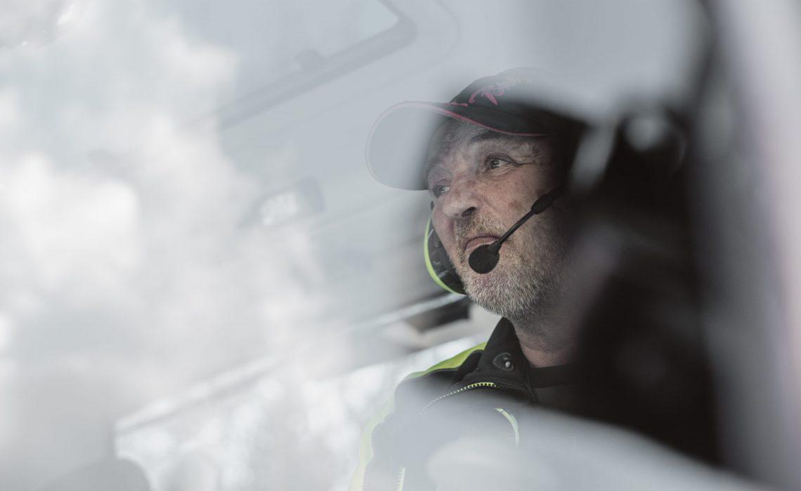 Latti Östlund i pistmaskinen Mats Lind