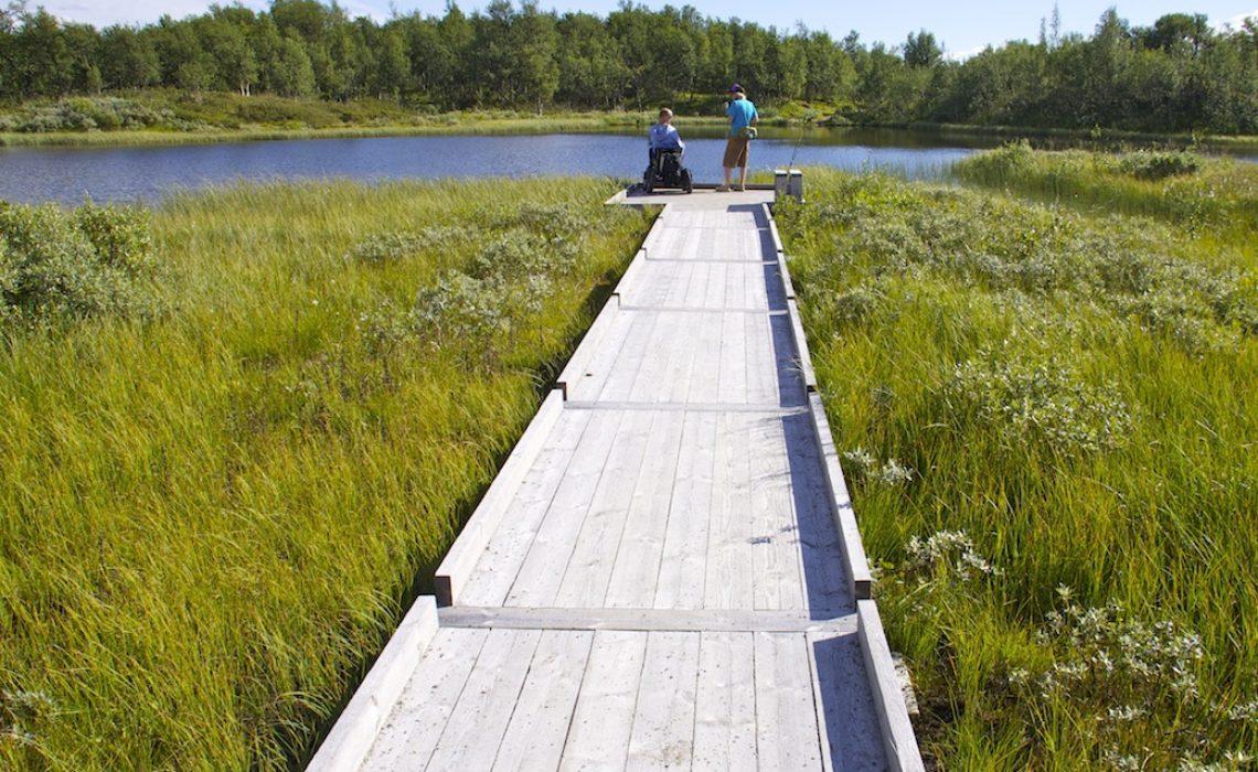Tillgänglig fiskeplats Messmörtjärn Funäsfjällen