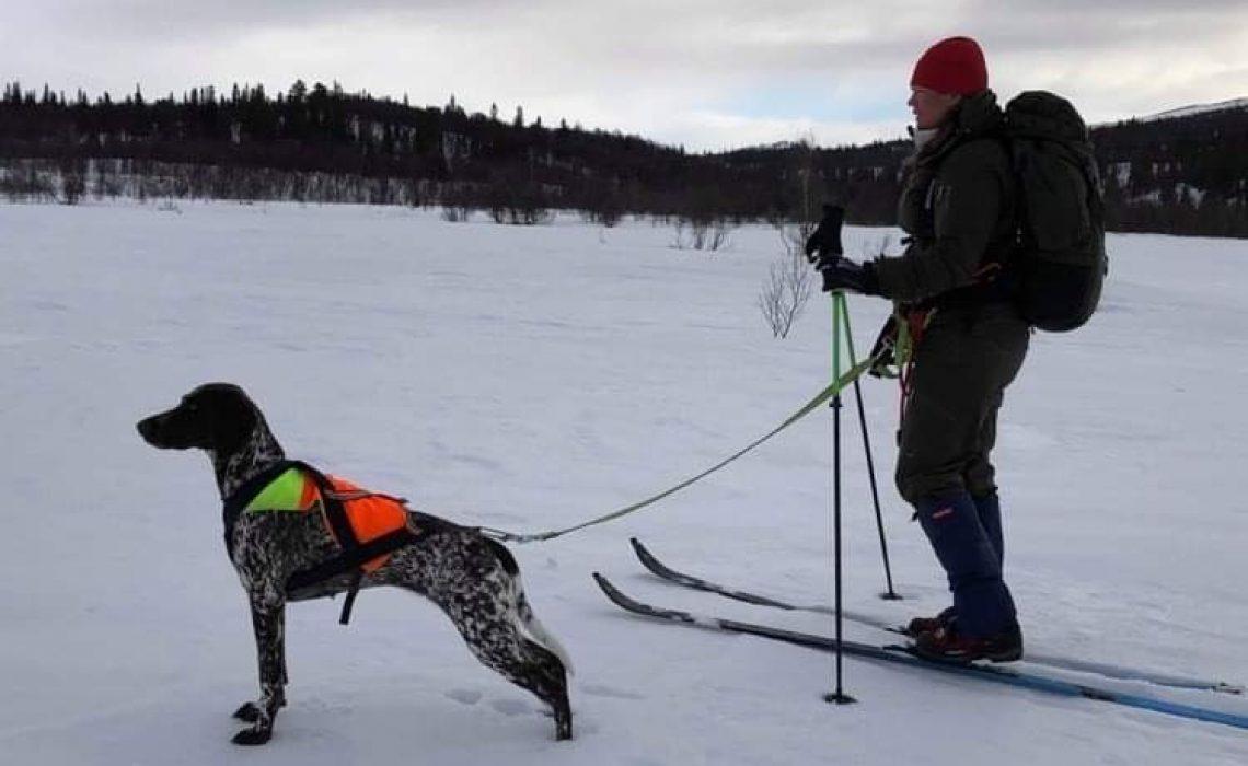 Sandra Landén och hunden Penny